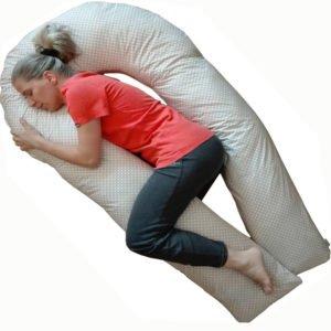 Perna pentru gravide-corp-alaptare – U-Confort total – 1.7 m pe fiecare brat, cu husa de vara din bumbac, detasabila