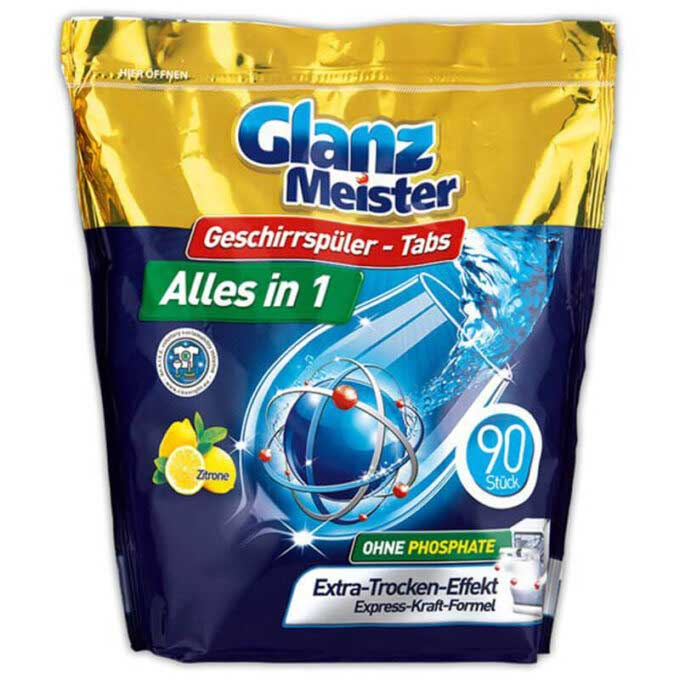 Detergent Tablete pentru Masina de Spalat Vase Glanz Meister 90 Capsule