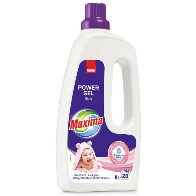 Detergent de Rufe Sano Maxima Power Gel Baby 1l