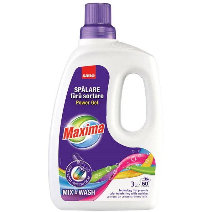 Detergent lichid pentru rufe, 60 spalari, 3L, Splare fara sortare - Sano
