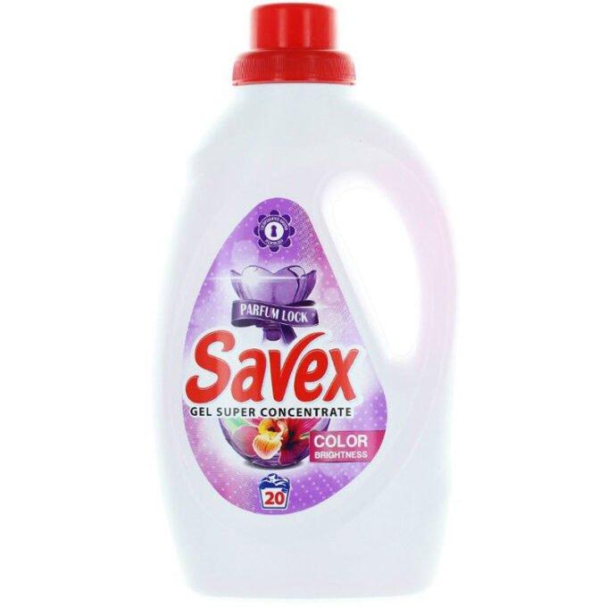 Detergent lichid pentru rufe, 20 spalari, 1.1 L, Color Brightness - Savex