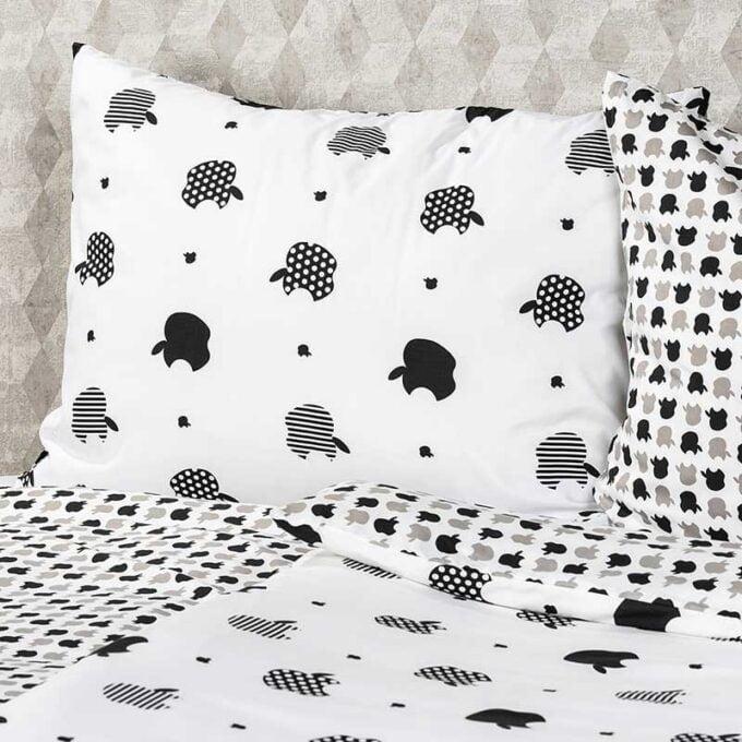 Set lenjerie de pat tesatura din microfibra cu imprimeuri