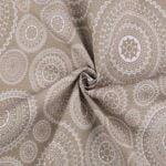 Material textil bumbac gros motiv mandala